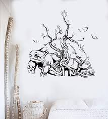 Vinyl Wall Decal Abstract Art Turtle Tree House Interior Stickers Uniq Wallstickers4you
