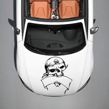 Skull Pirate With Bandana Ribbon Hood Car Vinyl Sticker Decals Murals Sv2384 Car Decals Vinyl Vinyl Decal Stickers Vinyl