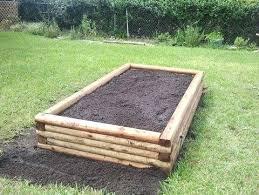 landscape timber raised bed