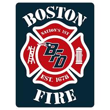 Boston Fire Football 4 Decals