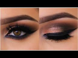 bronze smokey cat eye tutorial you
