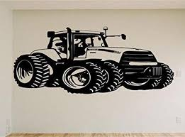 Case John Deere Farm Tractor Car Auto Wall Decal Stickers Murals Boys
