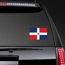 The Dominican Republic Country Flag Sticker