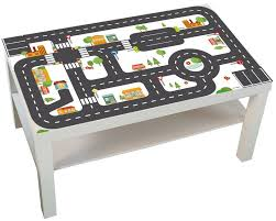 play mat car sticker kids table play