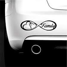 Amazon Com Boilipoint 3pcs Car Window Decal Truck Outdoor Laptop Sticker Family Love Heart Infinity Forever Symbol Vinyl Decal Car Window Bumper Sticker Automotive