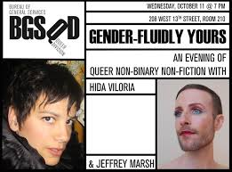 Gender-fluidly Yours, with Hida Viloria & Jeffrey Marsh - dates, times, map  - GayCities New York