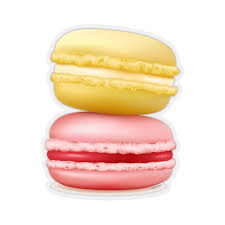 French Macaroons Sticker Pink Yellow Watercolor Food Laptop Decal Vin Starcove Fashion