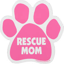 Imagine This Rescue Mom Pink Paw Shaped Car Magnet Petco