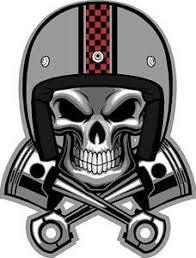 321 4 Cafe Racer Skull Pistons Helmet Decal Sticker Vintage Cb350 Cb400 Kz1000 Ebay Biker Art Biker Logo Skull Art
