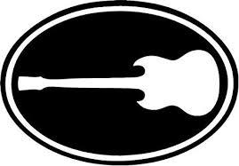 Amazon Com Gibson Guitar Vinyl Decal Sticker Bumper Car Truck Window 6 Wide Matte Black Color Arts Crafts Sewing