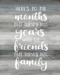 friendship quote gray wood friends quote print wood sign friends
