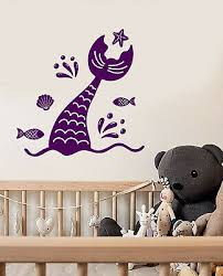 Vinyl Wall Decal Mermaid Tail Fairy Tale Sea Animals Shell Stickers 3517ig Ebay