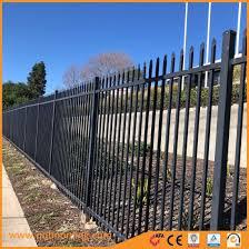 China Steel Square Tube Design Galvanized Zinc Garrison Metal Fence China Garrsion Steel Fence Powder Coated Steel Fence