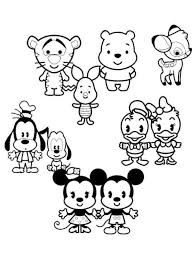 coloring pages cute disney cute easy