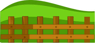 Green Grass Background Clipart Fence Cartoon Green Transparent Clip Art