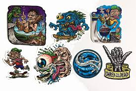 Lets Skate Sticker Pack 7 Full Color Shaped Vinyl Stickers Jimbo Phillips Webstore Online Store Powered By Storenvy