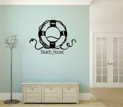 Rosecliff Heights Beach House With Life Ring Wall Decal Wayfair