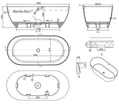 Byron Stone Bath Gloss 1690mmm - Total Home Design
