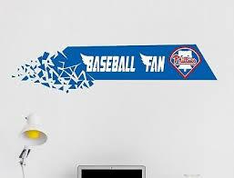 Philadelphia Phillies Baseball Mlb Wall Decal Vinyl Decor Room Sticker Art J86
