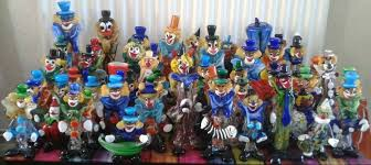 murano glass clowns vintage collection