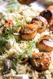 Honey Garlic Butter Scallops and Orzo ...