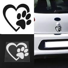 Car Truck Graphics Decals Paw Foot Prints Dog Vinyl Decal Sticker Car Truck Bumper Window Sticker Pet Auto Parts And Vehicles