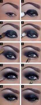 blue and gold eye makeup cat eye makeup