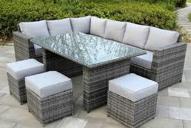 9 seater grey rattan furniture set