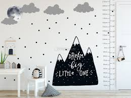 Kids Black Mountains And Dark Moon Wall Decal Sticker Wall Decals Wallmur