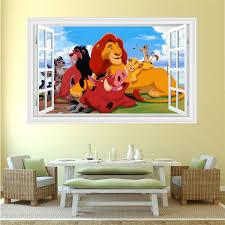 Boy Gift Free Shipping Lion King Simba Pumbaa 3d Window Wall Decal Sticker Home Decor Art Boy Girl Kids Decor 304 Wall Stickers Aliexpress
