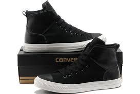 leather converse hi tops