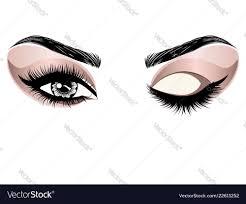 eye make up royalty free vector image