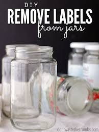 remove labels from jars a simple diy