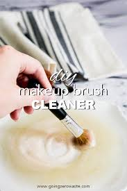 diy makeup brush cleaner going zero waste