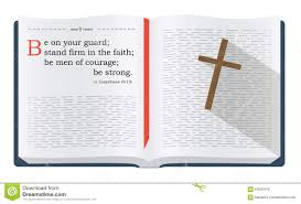 bible verses about being on guard stock illustration