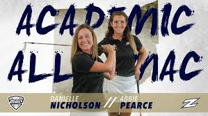 Nicholson, Pearce Named to 2019 Mid-American Conference All-Academic Team -  University of Akron Athletics