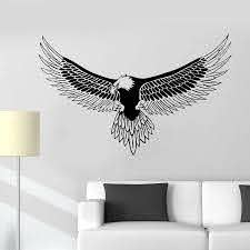 Bald Eagle Bird Feathers Vinyl Wall Decals Home Decor Art Wall Stickers Wall Stickers Aliexpress