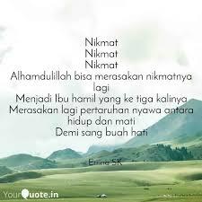 nikmat nikmat nikmat alha quotes writings by errina
