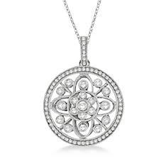 diamond pendant necklace 14k white gold