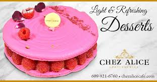 Chez Alice Princeton - A rose by any other name is an Ispahan, with rose  cream, lichi confit & fresh raspberries in a giant macaron. Call #ChezAlice  at 609-921-6760 to order ahead.