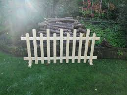 Unlimited Stock Free Standing Wooden Picket Fence 6ftx3ft Staggered S