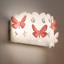 Country Wall Light Kids Bedroom Girls Room Butterfly Hallway Crystal Sconce Lighting Beautifulhalo Com