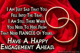 engagement status for friend and engagement wishes messages