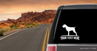 German Wirehaired Pointer Silhouette Vinyl Decal Sticker Custom Gifts Etc