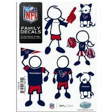 Nfl Houston Texans Family Decals Shop Car Accessories At H E B