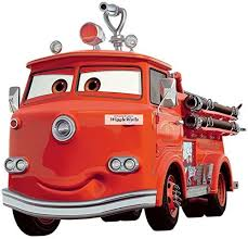 Amazon Com Disney 9 Inch Red Shy Fire Truck Firetruckwall Decal Sticker Pixar Cars 3 Movie Truck Removable Peel Self Stick Adhesive Vinyl Decorative Art Room Home Decor Kids Room Racing Decor 9