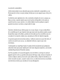 La Carta De Cumpleanos Ocio