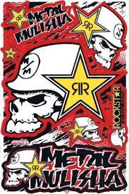 Rockstar Metal Mulisha Graphic Sticker Decal 1 Sheet Rm7p 002yr Mary C Washingtonert