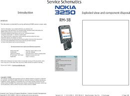 Nokia 3250 Rm 38 Service Schematics