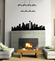 Seattle Skyline Wall Decal Trading Phrases